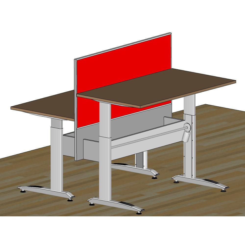 Двойной стол с перегородкой